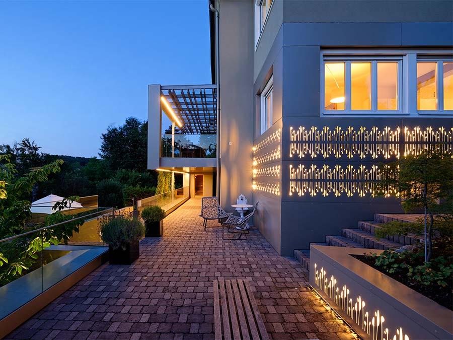Fassade beleuchtet